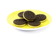 Cookies with white creme Royalty Free Stock Photography