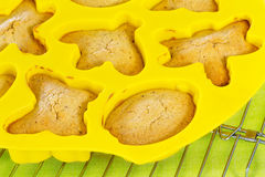 Cookies in yellow silicon mode Stock Photography