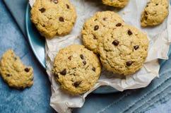 cookiese oatmeal för chipchoklad Royaltyfri Foto