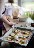 Cookin der Pizza Lizenzfreie Stockfotografie