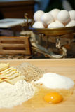 Before cooking. Before coking. eggs and butter Stock Images