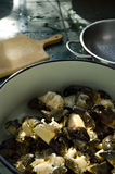 Cooking. A nice bowl of crab claws after a catch in the croatian sea Royalty Free Stock Image