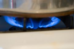 Cooking. Flame Stock Photography
