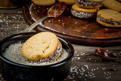 Cooking alfajores Stock Images