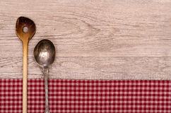 Cooking And Silver Spoon Stock Photography
