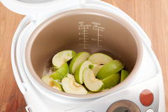 Cooking apple pie Stock Photography