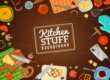 Cooking Background With Kitchen Stuff Royalty Free Stock Photography