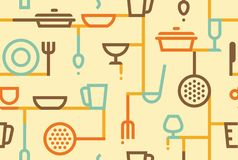 Cooking background. Vector illustration Royalty Free Stock Image