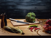 Cooking background with vegetables Royalty Free Stock Photography