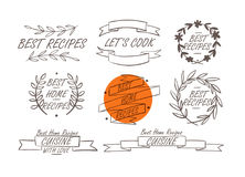 Cooking Badges Collection Royalty Free Stock Images