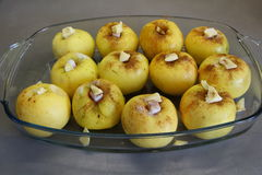 Cooking baked apple Stock Images