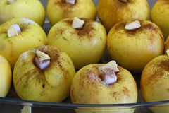 Cooking baked apple Royalty Free Stock Image