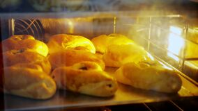 Cooking. bakery. close-up. pastries are baked in the oven. health food. reopening after covid-19. safety concept