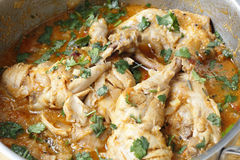 Cooking balti chicken Royalty Free Stock Photo