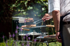 Cooking on a Barbecue Royalty Free Stock Image