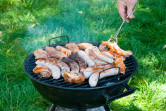 Cooking barbecue Royalty Free Stock Images