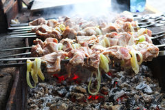 Cooking barbecue on the grill Stock Image