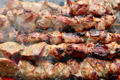 Cooking barbecue Stock Photography