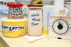 Cooking basic ingredients Royalty Free Stock Photos