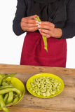 Cooking beans at home Royalty Free Stock Images