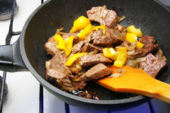 Cooking beef Stock Image