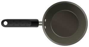 Cooking. Black non stick cooking pan Royalty Free Stock Photo