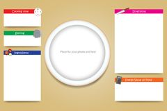 Cooking board vector with an empty plate in the middle Royalty Free Stock Image