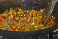 Cooking Bolognese Sauce Stock Photos