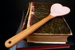 Cooking Book. Old style Cooking Book for Special Meals Stock Photos