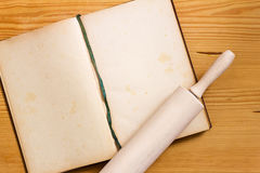 Cooking book and rolling pin Stock Photo