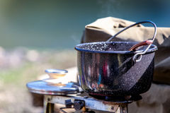 Cooking bowl. Romanian cooking bowl, outside cooking Stock Photography