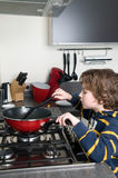 Cooking Boy Royalty Free Stock Photo