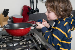 Cooking Boy Royalty Free Stock Photography