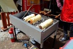 Cooking during Brasov Juni parade Stock Images