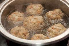 Cooking bread dumplings stock photography