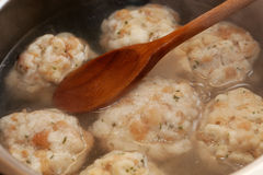 Cooking bread dumplings Royalty Free Stock Image