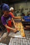 Cooking bread Stock Photos