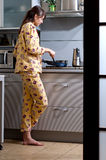 Cooking breakfast Royalty Free Stock Image