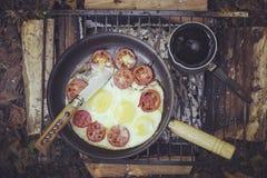 Cooking breakfast. Stock Photo