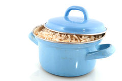 Cooking brown rice Royalty Free Stock Images
