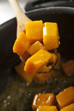 Cooking butternut Stock Photography