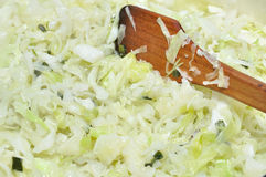 Cooking cabbage Royalty Free Stock Photography