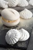 Cooking cakes meringue Stock Images