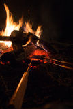 Cooking campfire pies Stock Images