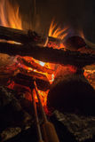 Cooking campfire pies Royalty Free Stock Photos