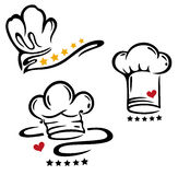 Cooking caps with five stars Stock Photo