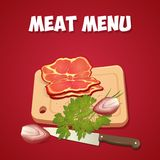 Cooking card, poster design. Vector illustration Stock Image