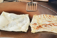 Cooking chapati on the pan Royalty Free Stock Photography