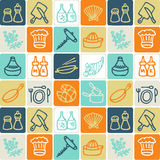 Cooking checked pattern Stock Image