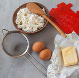 Cooking cheese Easter Stock Photo
